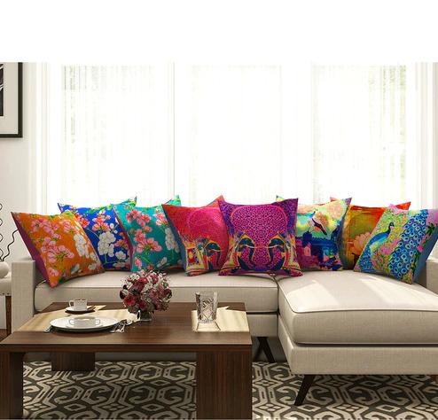Handpainted cushions