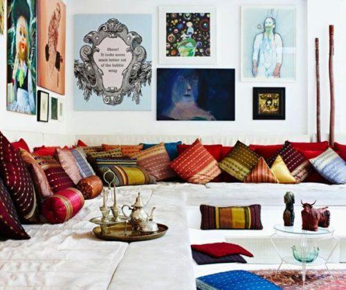 Zari cushions in the living room