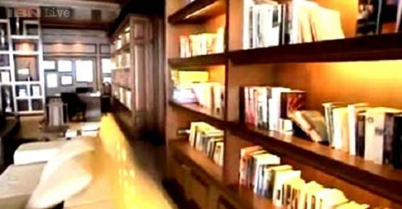 Shahrukh's office and library