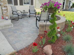 patio at the frontyard