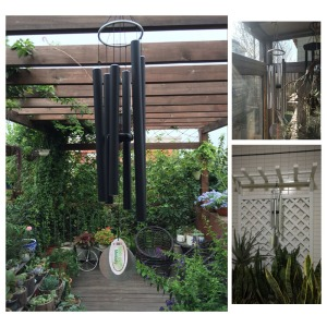Creative wind chimes japanes style in home garden