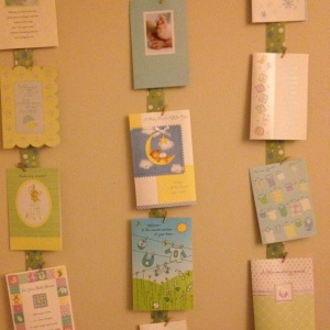 wall decor with greetings card