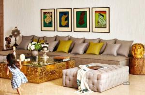 Living Room celebrity home Akshay Kumar