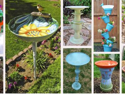 bird baths for garden decor