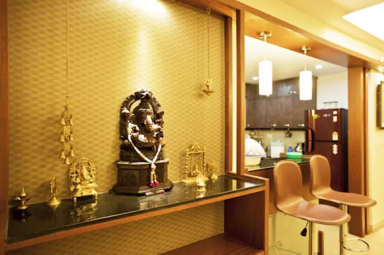 Ganesh statue in the living room