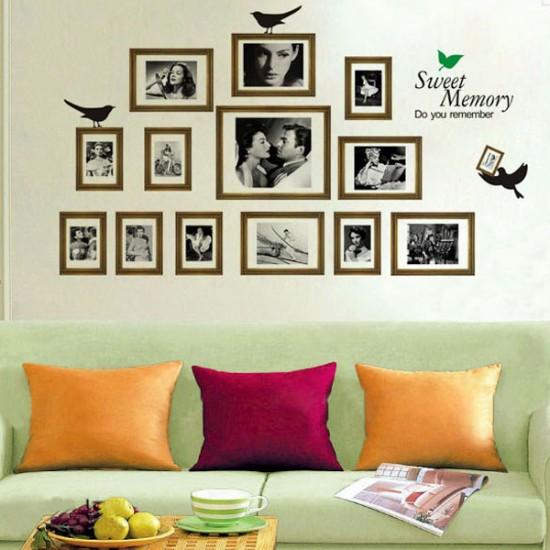 Photo frame wall art