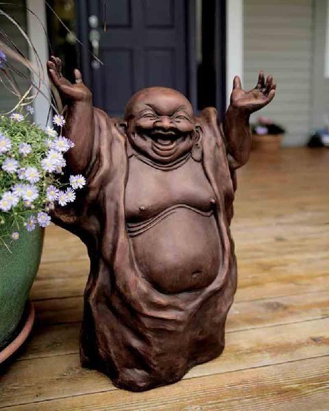 laughing Buddha at the entrance